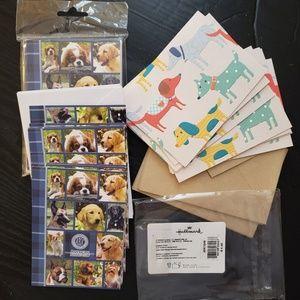 26 Dog Theme Notecards Blank